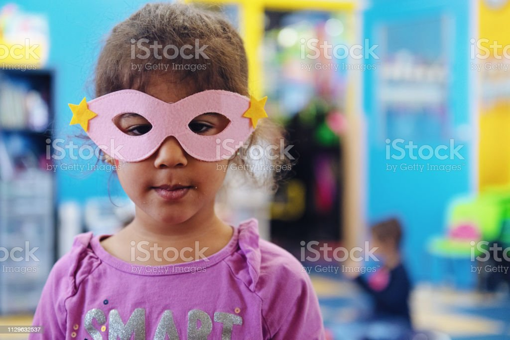 Children having crafting activity, diy valentine cards and superhero...