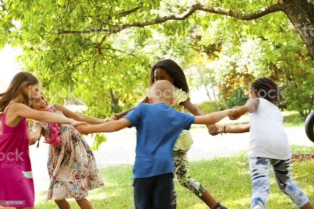 Children having fun royalty-free stock photo