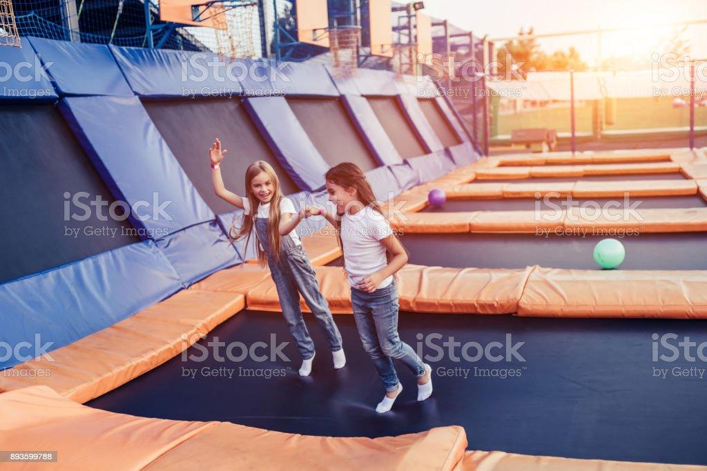 Children having fun. stock photo