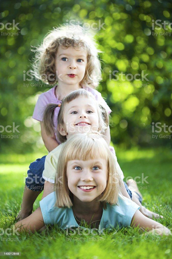 Children having picnic royalty-free stock photo