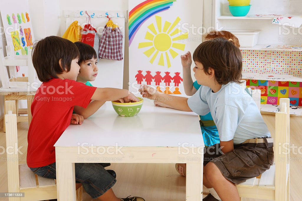 children in a classroom royalty-free stock photo