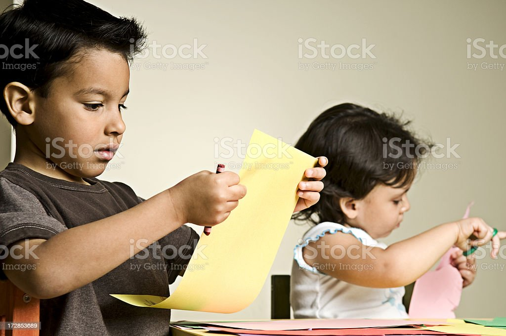 children in art class - Royalty-free 2-3 Years Stock Photo