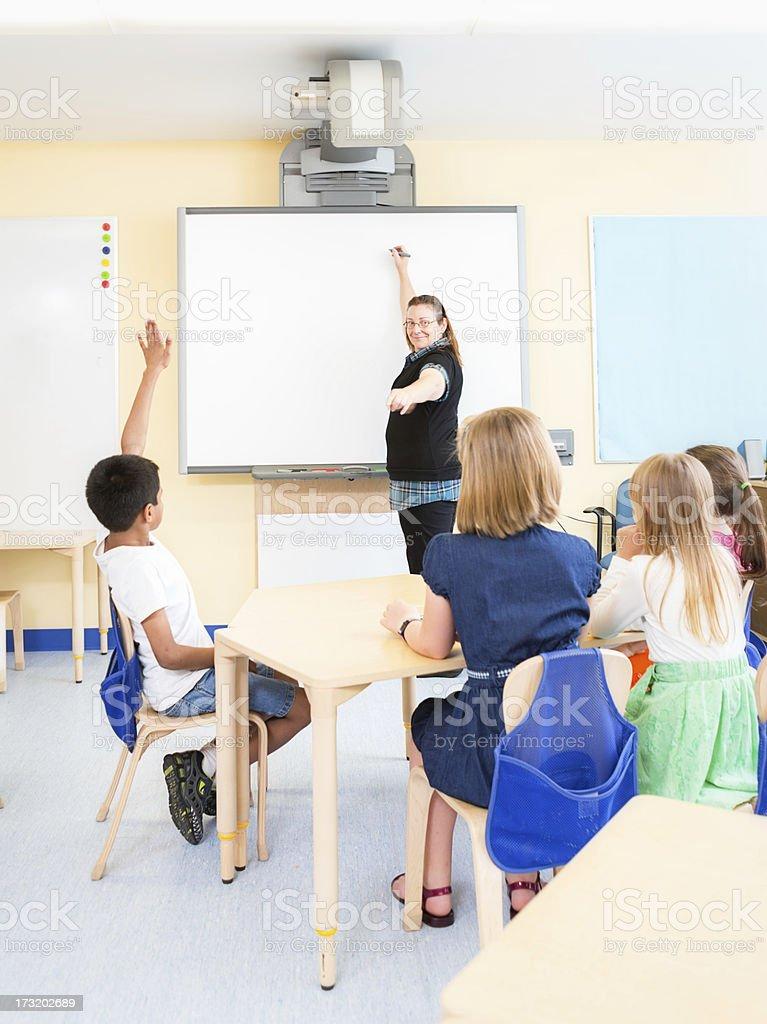 Children in class stock photo