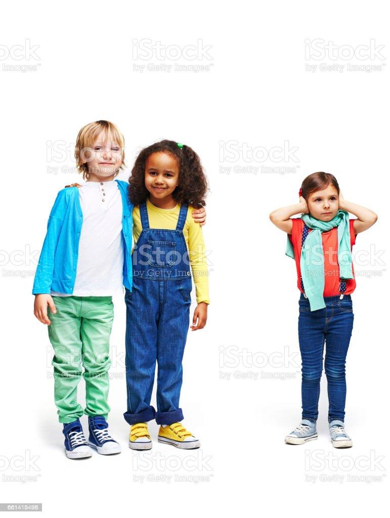 Children in Conflict stock photo