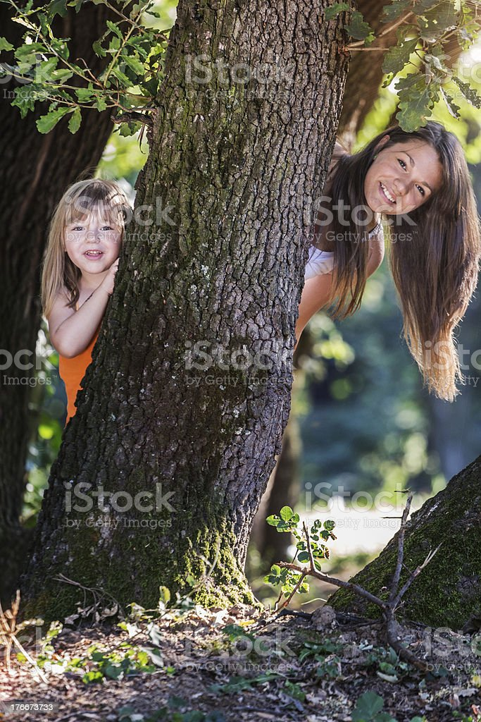 Children in nature royalty-free stock photo