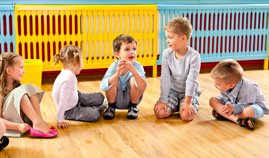 Children In Nursery School Stock Photo - Download Image Now