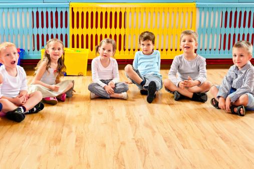 Children In Nursery School Stock Photo - Download Image Now