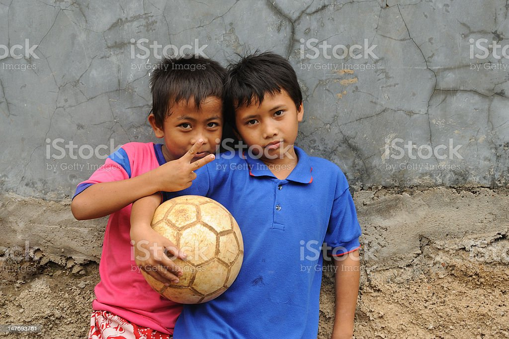 Children in Poverty stock photo