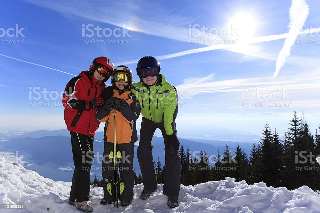 Children in ski clothes royalty-free stock photo