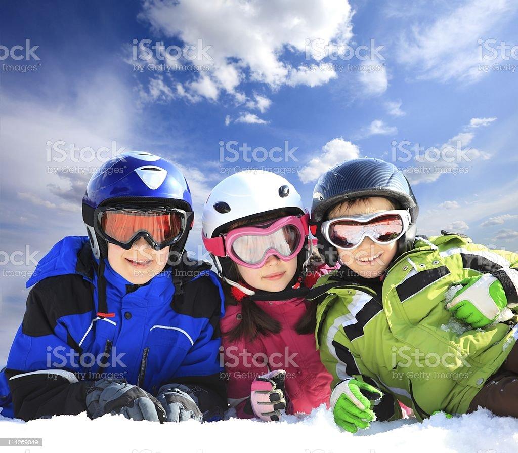 Children in ski clothing royalty-free stock photo