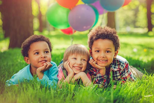 Cтоковое фото Детей в летний