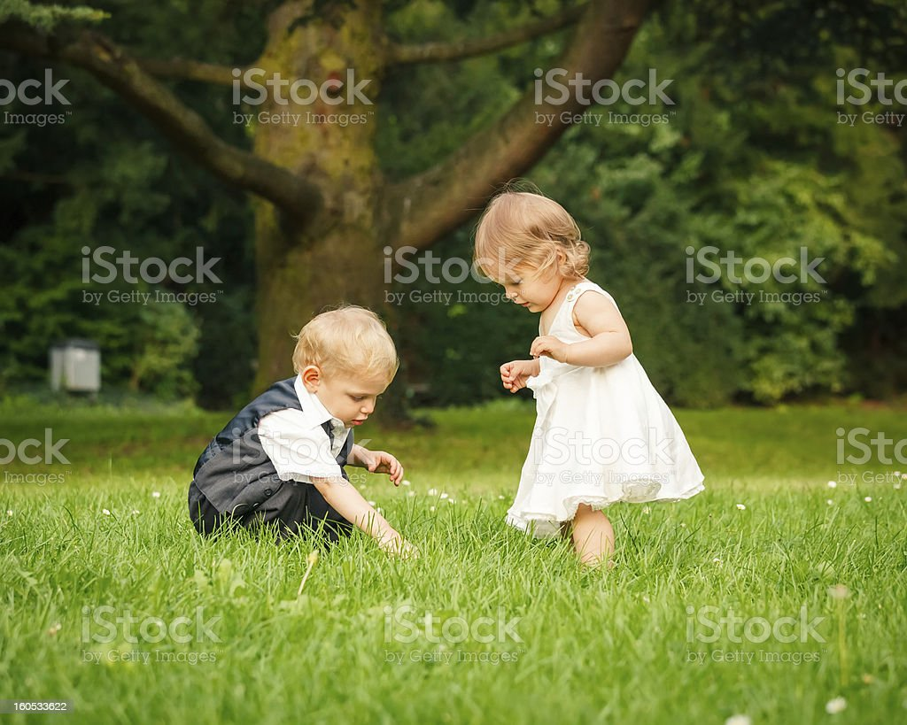 Children in the park royalty-free stock photo