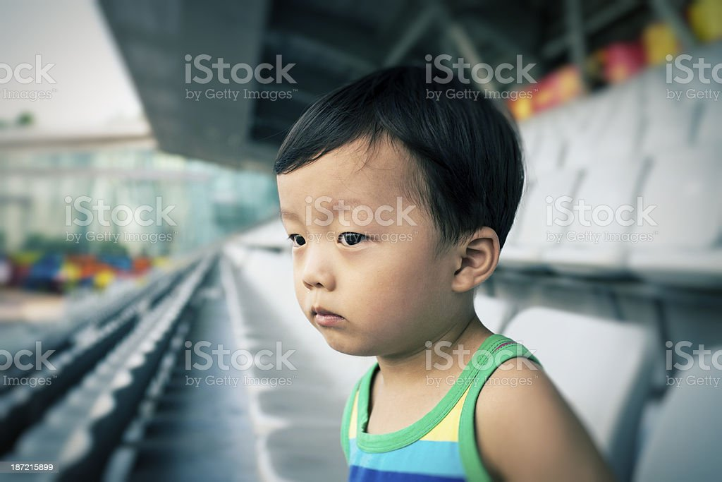 children in the stadium royalty-free stock photo