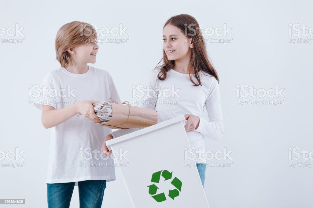 Children isolated on white background - Royalty-free Alertness Stock Photo