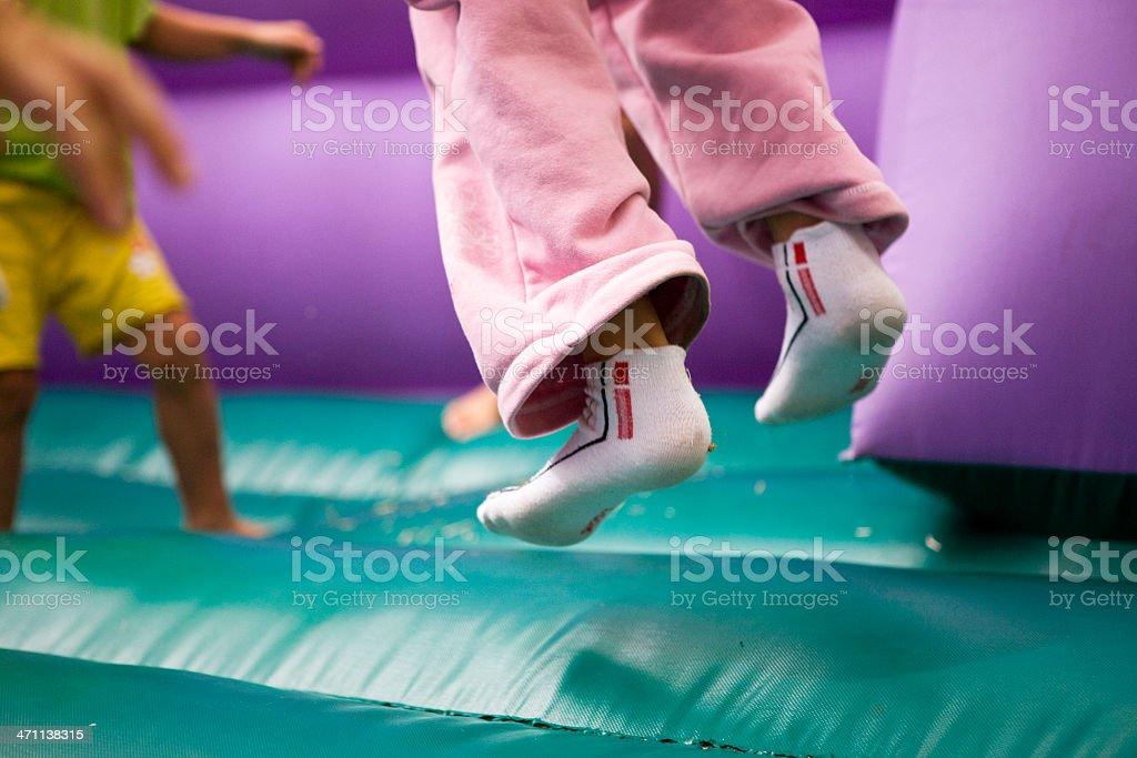 Children jumping royalty-free stock photo