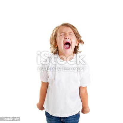 istock children kid screaming expression on white 153664652