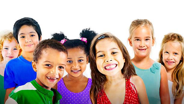Children Kids Diversity Friendship Happiness Cheerful Concept stock photo
