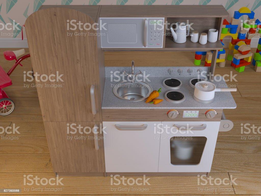 Juego Los Niños Cocina Diseño Interior Con Accesorios Foto ...