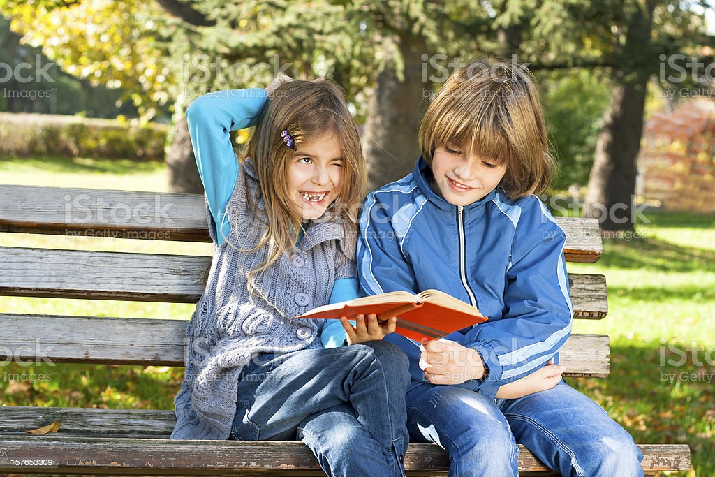 children learn in nature royalty-free stock photo