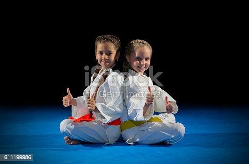 istock Children martial arts fighters 611199986