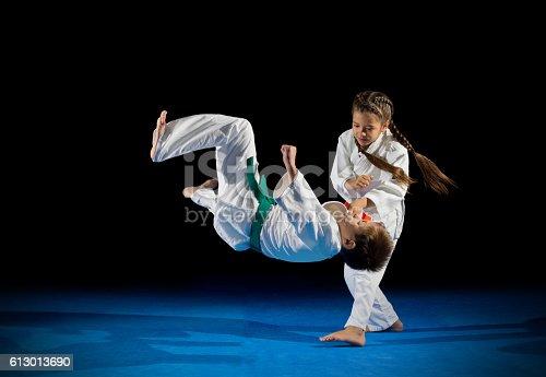 istock Children martial arts fighters 613013690