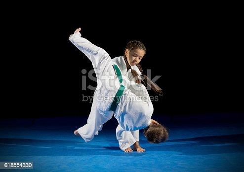 istock Children martial arts fighters 618554330