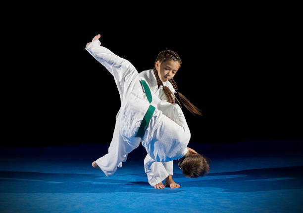 Children martial arts fighters - foto de stock