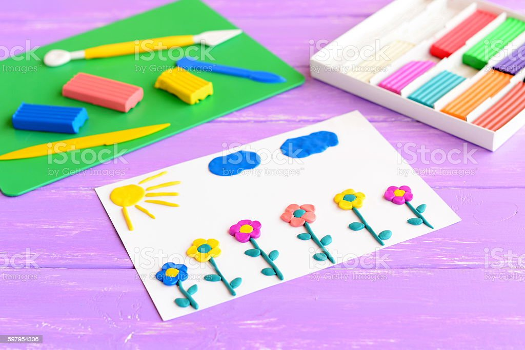 children modeling clay art stock photo more pictures of art istock