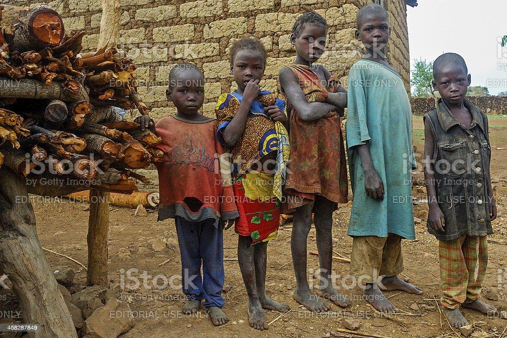 Children of Cameroon stock photo
