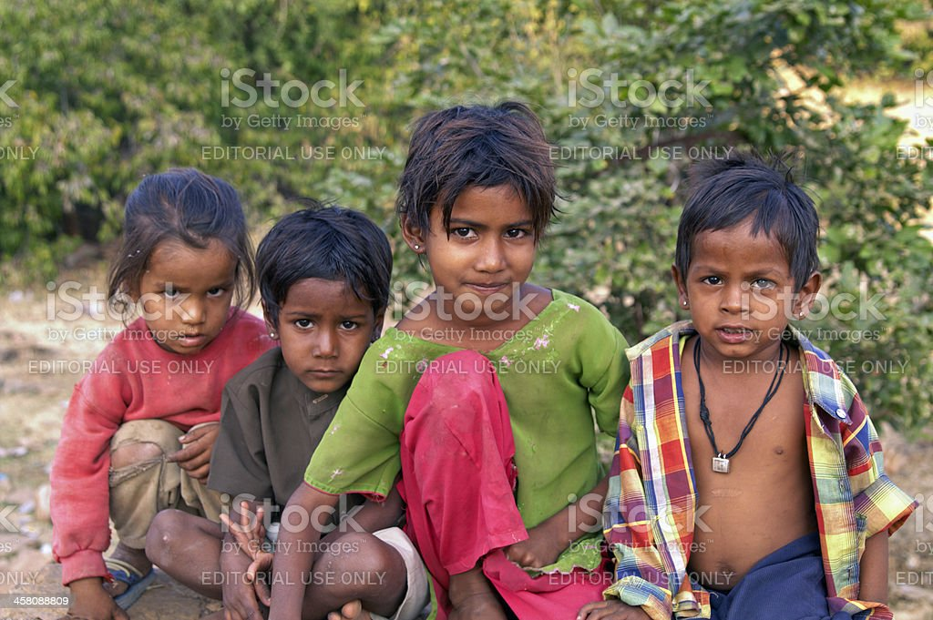 Children of India stock photo