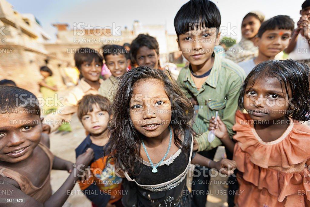 Children of New Delhi Slum India royalty-free stock photo