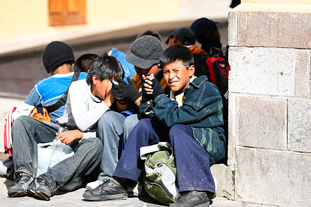 children of peru - peruvian ethnicity stock pictures, royalty-free photos & images