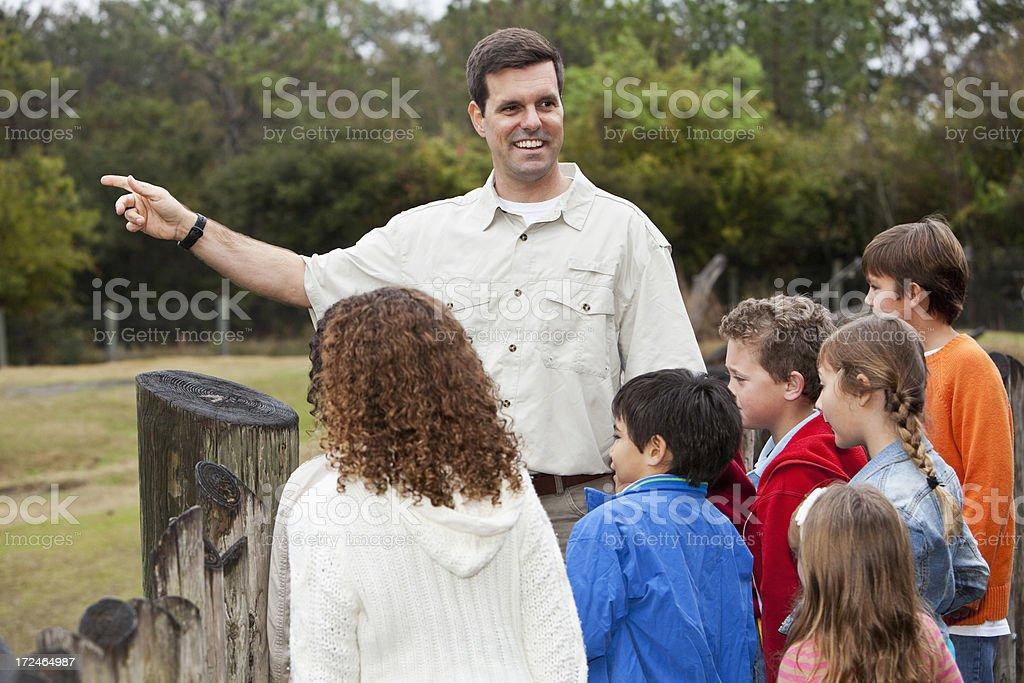Children on field trip royalty-free stock photo