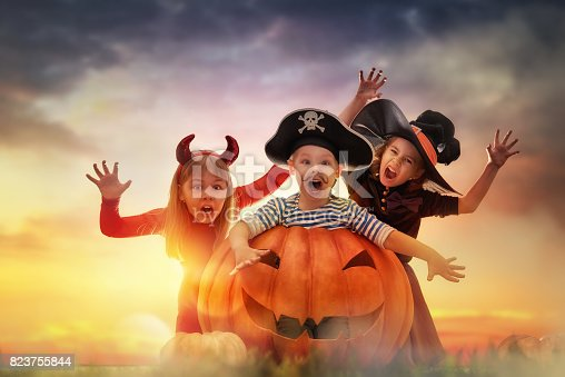 istock children on Halloween 823755844