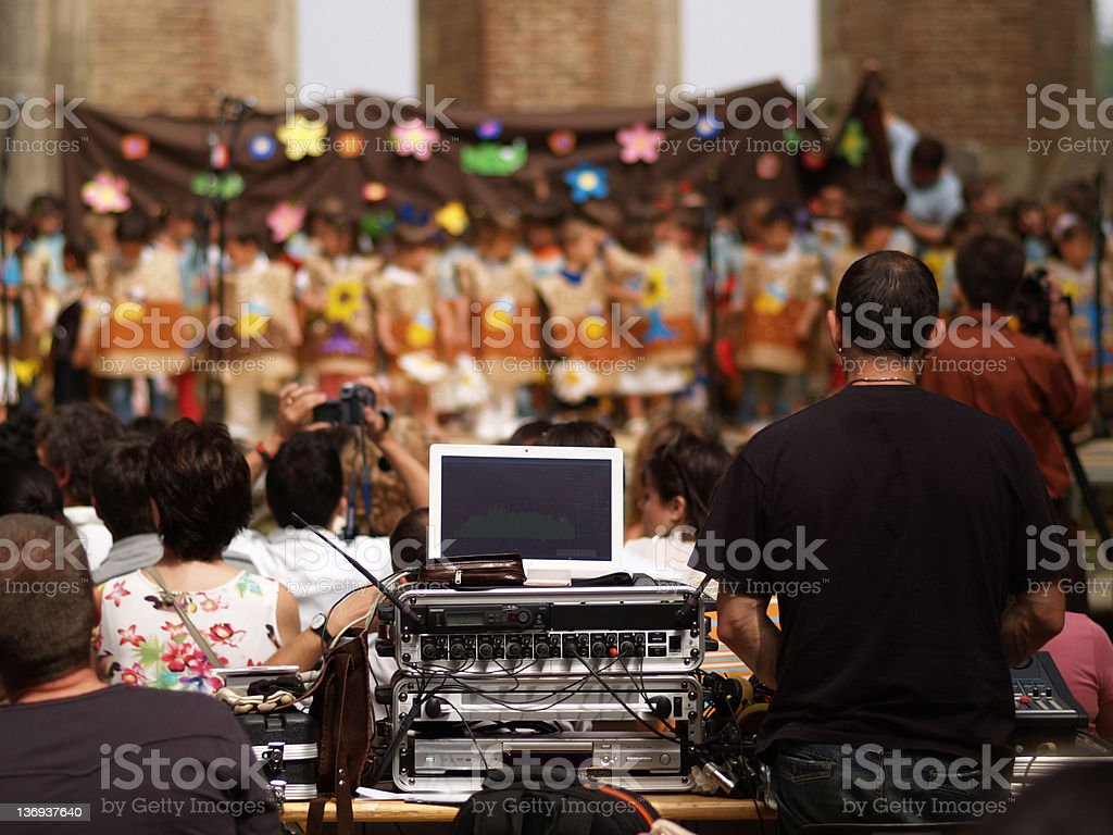 Children on stage royalty-free stock photo