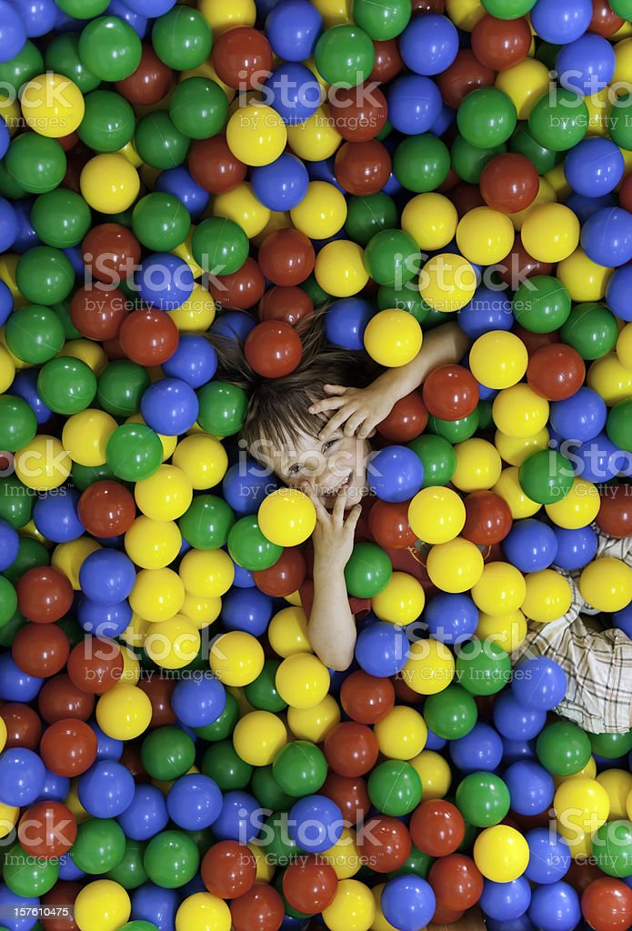 Children on the balls stock photo