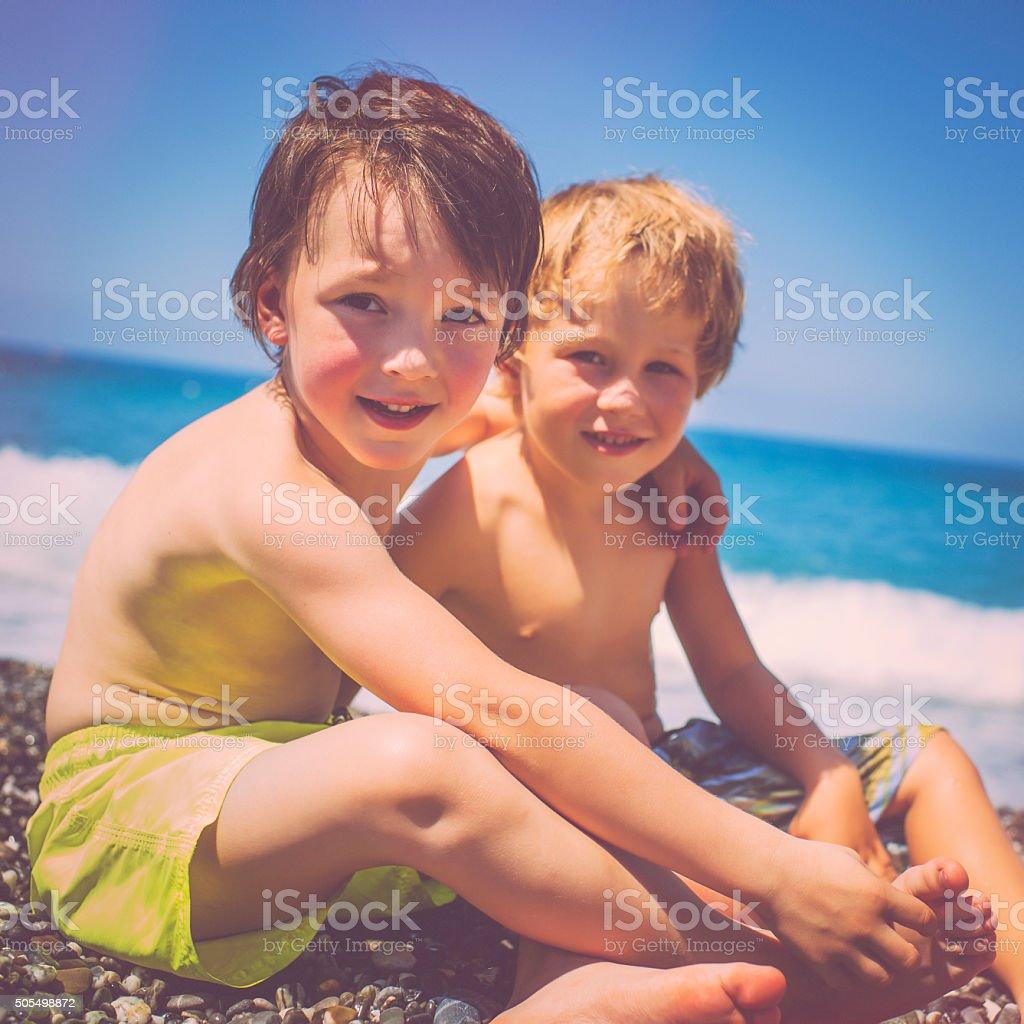 Kinder am Strand – Foto