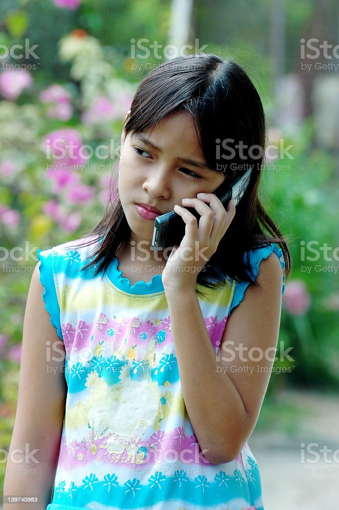 Children on the phone royalty-free stock photo