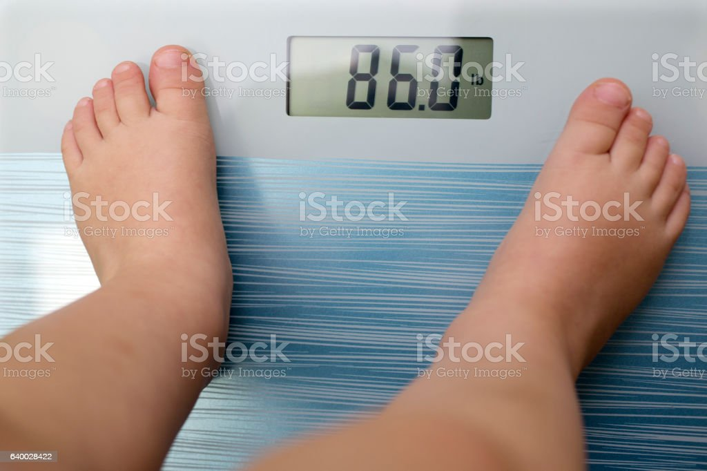 Children overweight stock photo