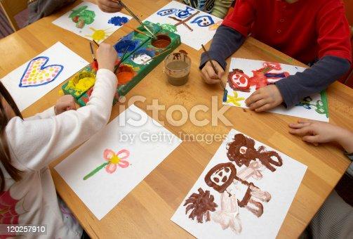 154371635istockphoto children painting 120257910