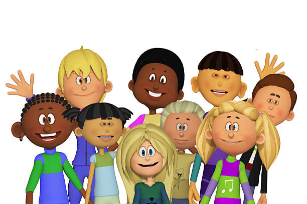 children - clip art stock photos and pictures