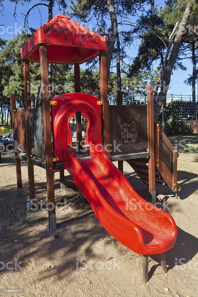 Children playground in the park royalty-free stock photo