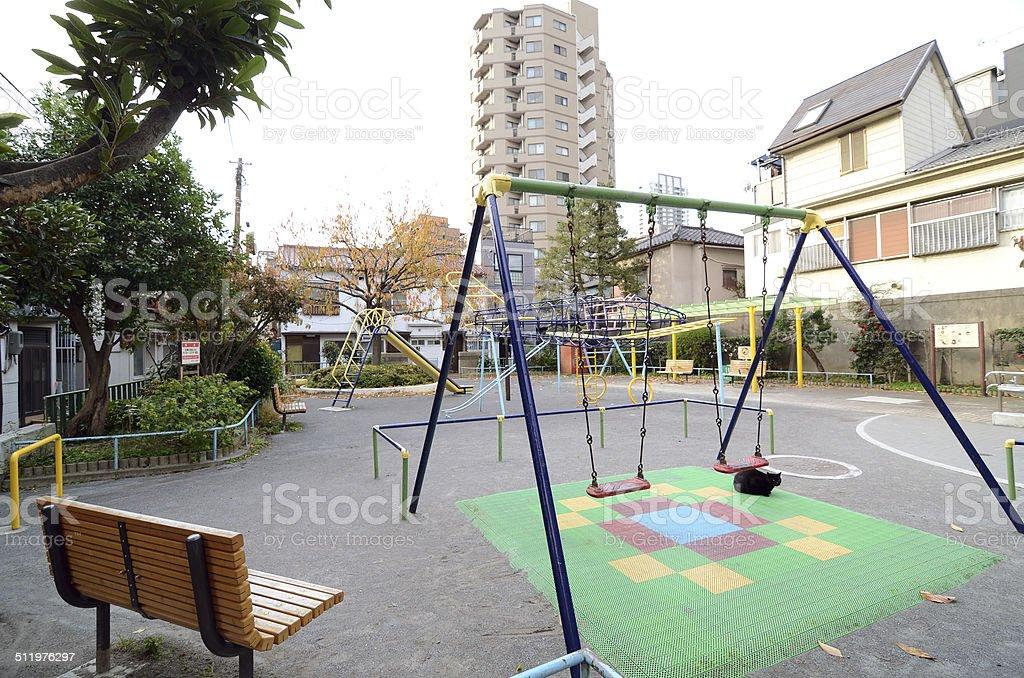 Children playground in the Tokyo, Japan stock photo