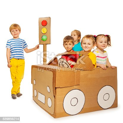 496487362 istock photo Children playing and studying traffic regulations 539856214