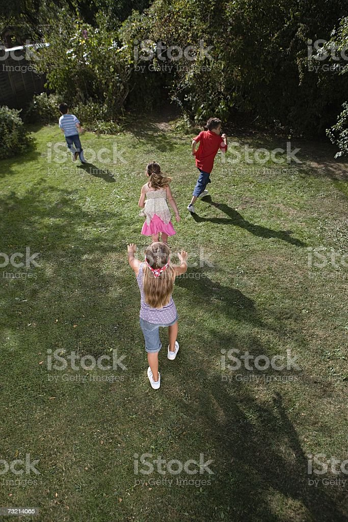 Children playing blind mans bluff royalty-free stock photo