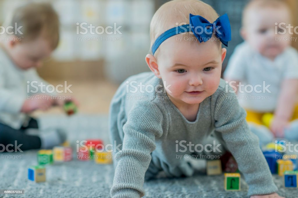 Children Playing in Daycare stock photo