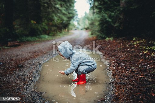 istock Children Playing in Rain Puddle 640879280