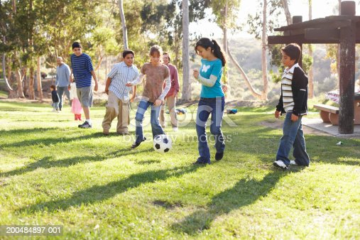 istock Children (9-14) playing soccer in park 200484897-001