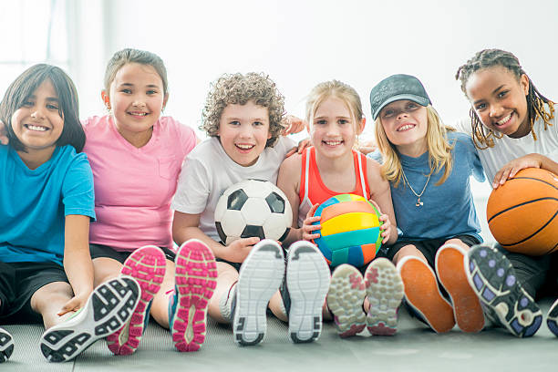 Children Playing various Sports stock photo