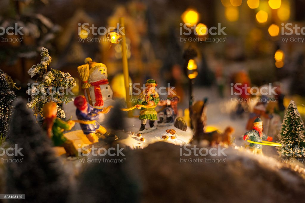 children playing with christmas stock photo